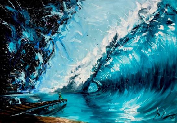 Постер (плакат) Волна