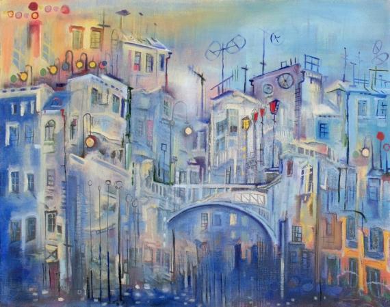 Постер (плакат) Голубой город