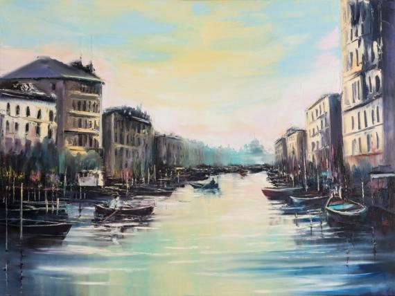 Постер на подрамнике Центральный канал Венеции