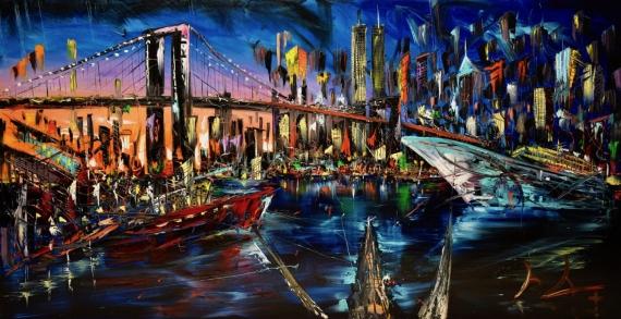 Постер на подрамнике Мост Нью-Йорк
