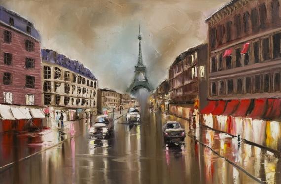 Постер (плакат) Вечерний Париж