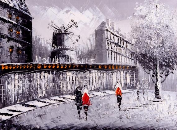 Постер (плакат) Париж Мулен Руж
