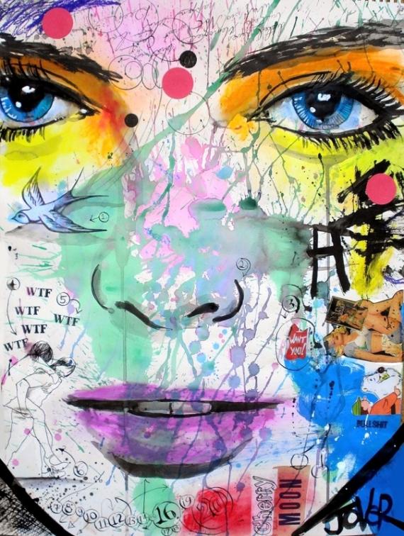Постер (плакат) Фиолетовые губы
