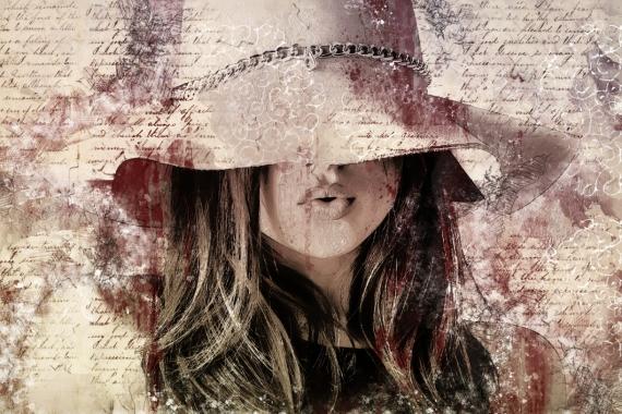 Постер на подрамнике Цепочка на шляпке