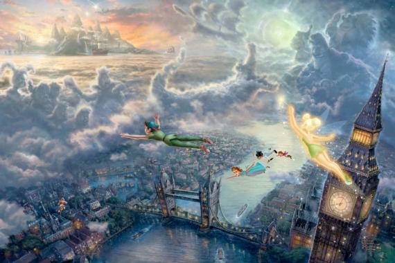 Постер (плакат) Полёт над Лондоном