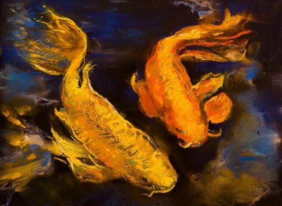 Постер (плакат) Две рыбки