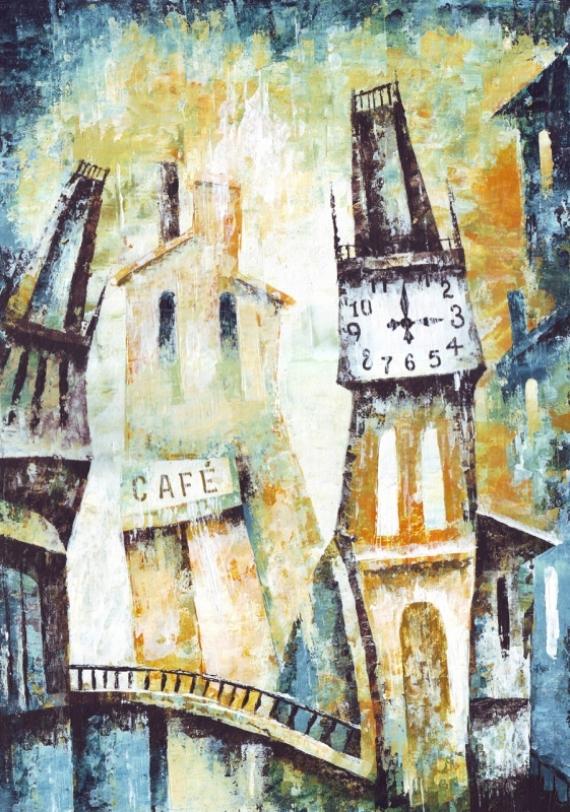 Постер на подрамнике Башня с часами