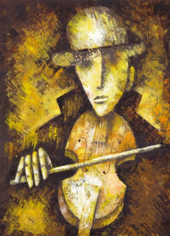 Постер на подрамнике Игра на скрипке