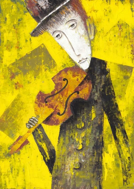 Постер на подрамнике Скрипка