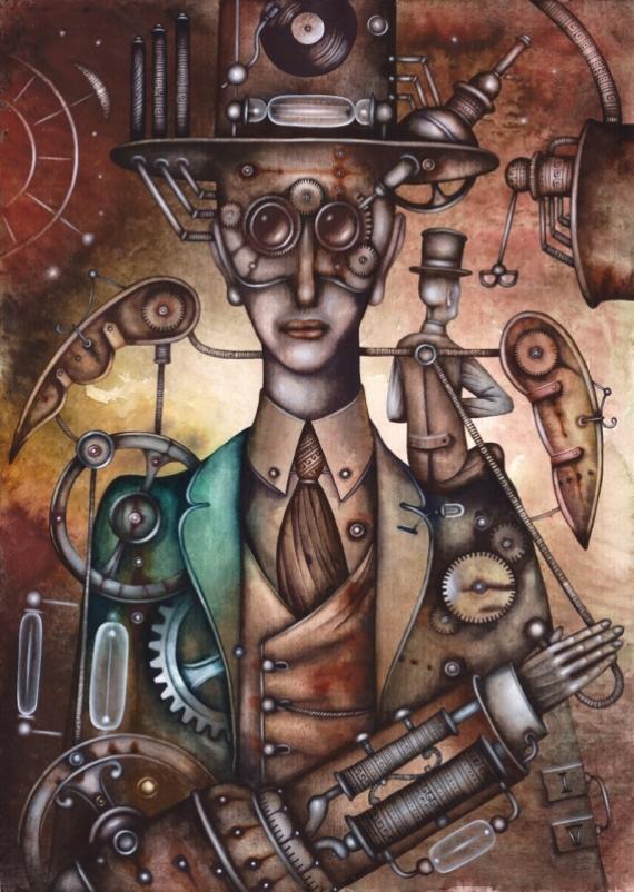 Постер на подрамнике Человек-механизм