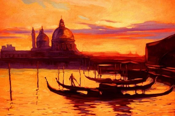 Постер на подрамнике Венеция Центральный Канал