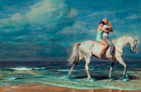 Постер на подрамнике Пара у моря