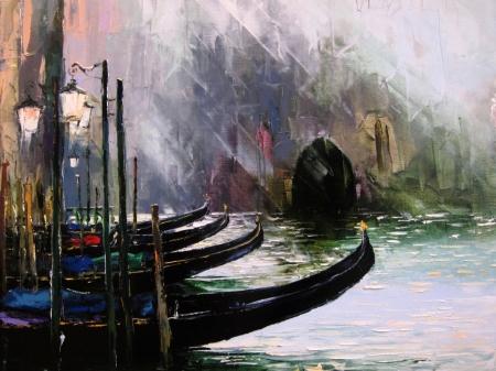 Постер (плакат) Венеция в стиле арт