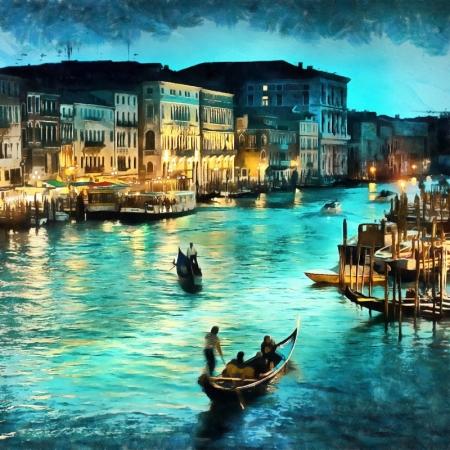 Постер на подрамнике Вечер Венеции