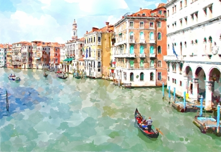 Постер на подрамнике Гранд канал Венеции