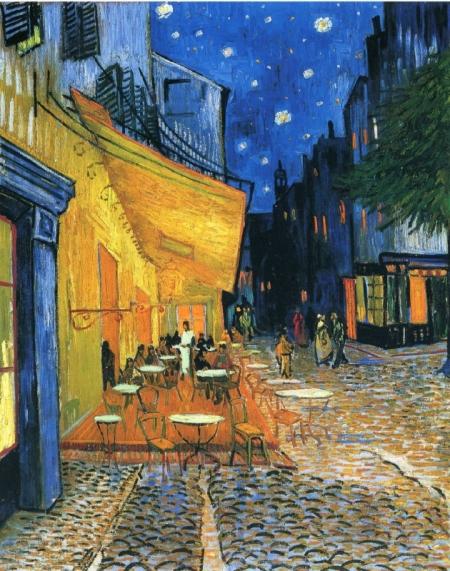 Постер на подрамнике Ночная терасса