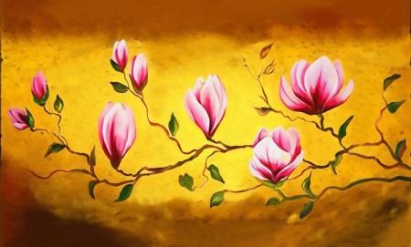 Постер на подрамнике Розовые орхидеи
