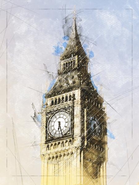 Постер на подрамнике Биг-Бен, Лондон.
