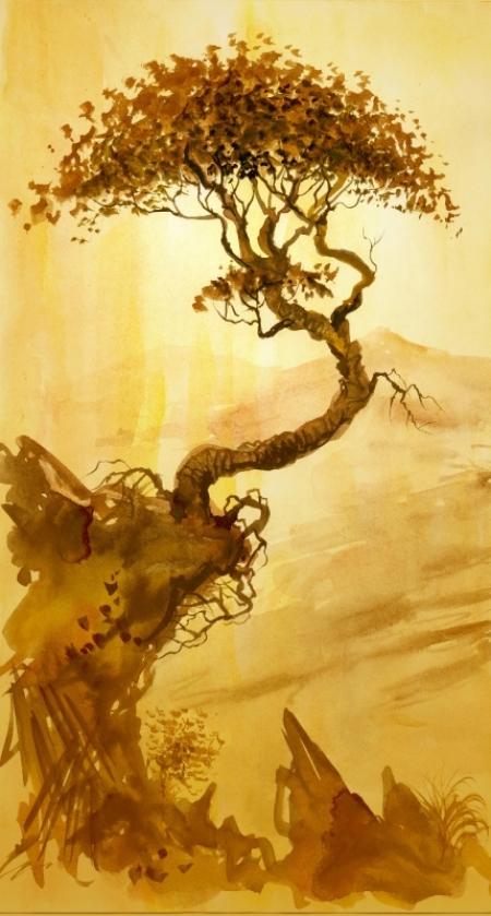 Плакат Восточная гравюра