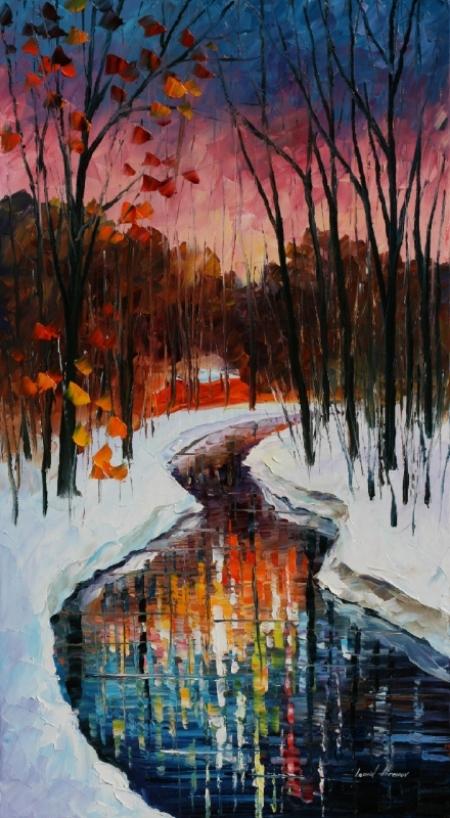 Постер на подрамнике Зимний ручей