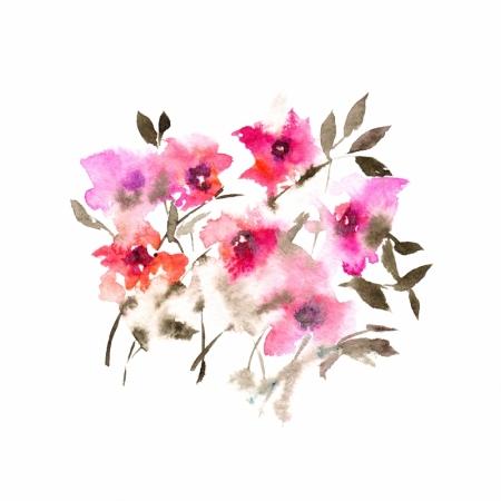 Постер на подрамнике Цветы акварелью