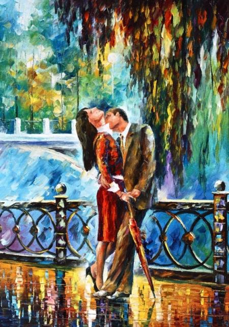 Постер на подрамнике Влюблённая пара