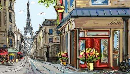 Постер на подрамнике Улица Парижа