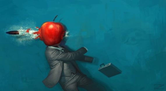 Постер (плакат) В яблоко