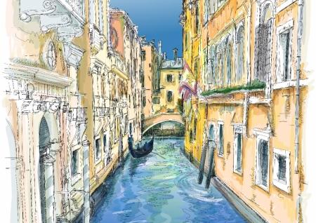 Постер (плакат) Улочки Венеции