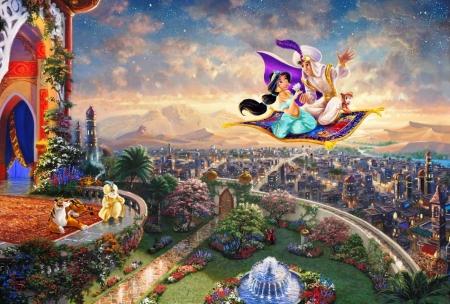 Постер на подрамнике Алладин и Жасмин