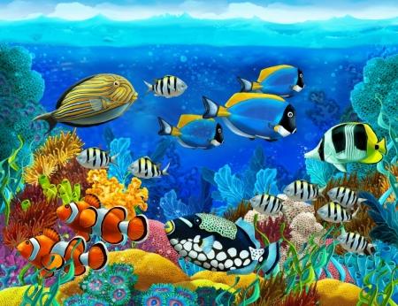 Постер на подрамнике Подводный мир