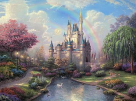 Постер на подрамнике Сказочный замок