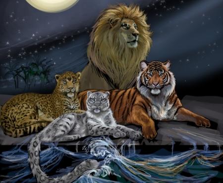 Постер (плакат) Большие кошки