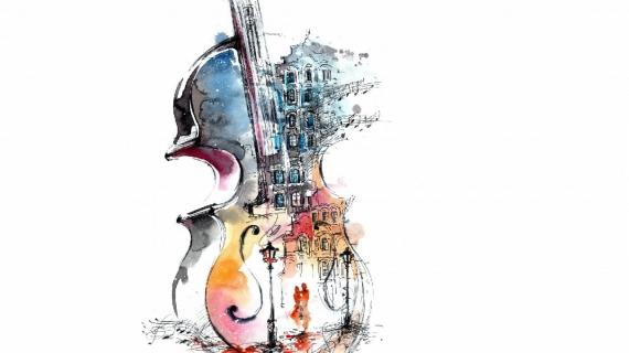 Модульная картина Скрипка