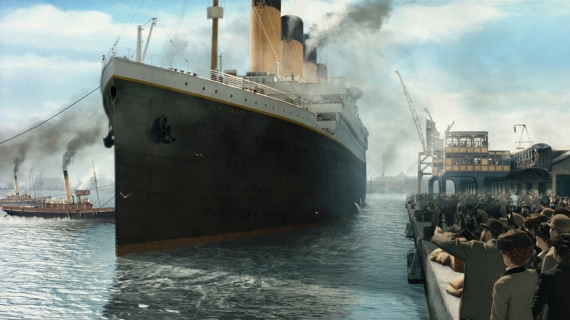 Постер на подрамнике Титаник
