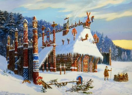 Постер на подрамнике Дом Деда Мороза