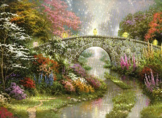 Постер на подрамнике Сказочный мост