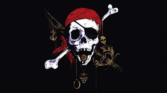 Постер на подрамнике Пират в красной бандане