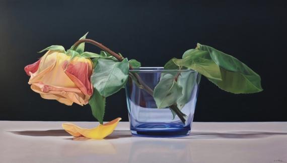 Постер на подрамнике Роза в стакане