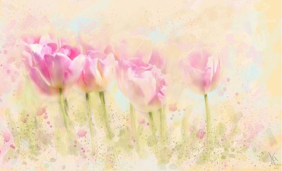 Постер на подрамнике Тюльпаны
