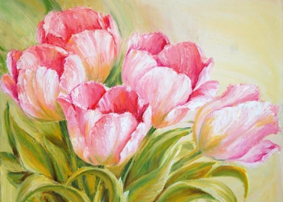 Постер на подрамнике Букет тюльпанов