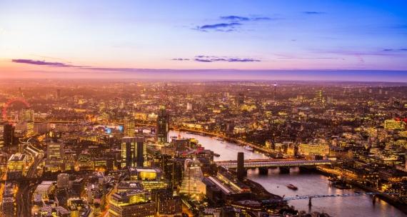 Постер (плакат) Вид на Лондон