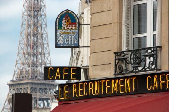 Постер на подрамнике Кафе в Париже