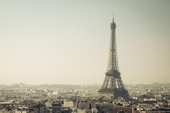 Постер (плакат) Вид на Париж