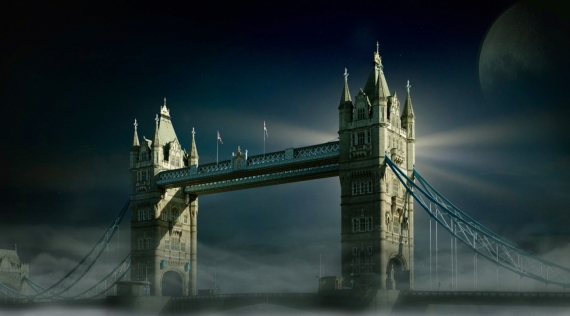 Постер (плакат) Ночной Тауэрский мост в Лондоне
