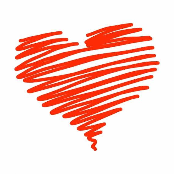 Постер на подрамнике Красное сердце