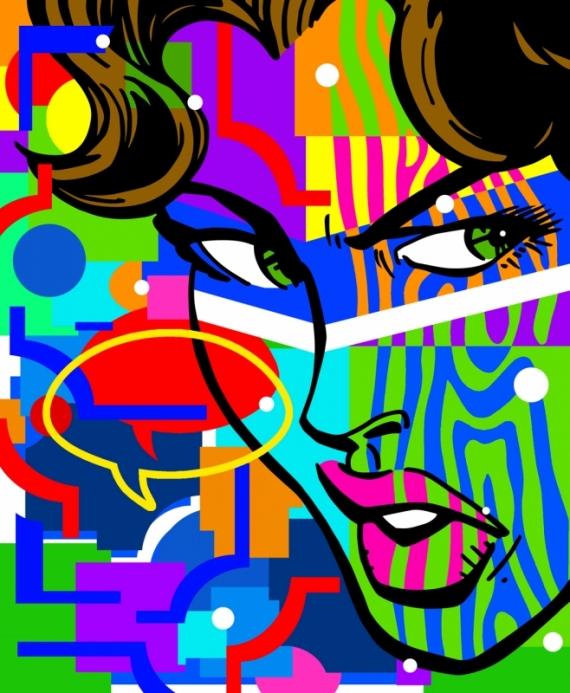 Постер (плакат) Злая девушка