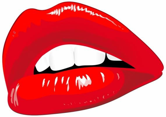 Постер (плакат) Красные губы