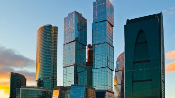 Постер на подрамнике Москва Сити