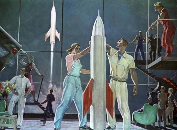 Постер на подрамнике Покорители космоса